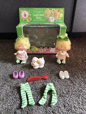 Vtg Strawberry Shortcake Lem and Ada pet Sugar Woofer Vintage Kenner Doll w Box