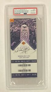 Kobe Bryant Signed 60pts Final Game 2016 Full Ticket Autographed PSA/DNA AUTO