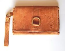 Marnie Bugs Soft Orange Leather Lila Wristlet Wallet Jane Cooper USA