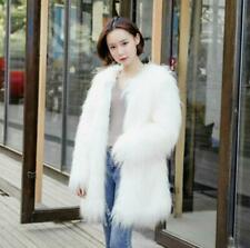 Winter Womens Lady Long Hair Shaggy Faux Wool Fur Coat Overcoats Parka Thick New
