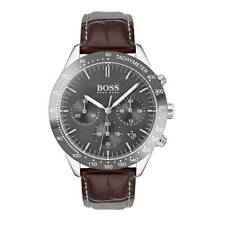 Hugo Boss HB 1513598 Talent Chronograph Brown Leather Strap Men's Wrist Watch