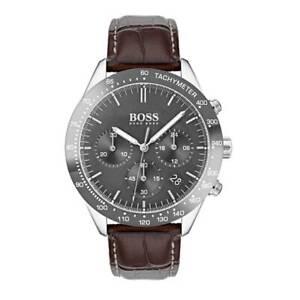 Hugo Boss HB 1513598 Talent Chronograph Brown Leather Strap Men's Wrist Watch