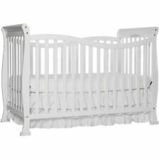 New 7-in-1 Convertible Baby Bed Full Size Crib Nursery Bedroom Furniture White