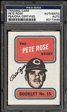 1970 PETE ROSE Autographed Card RARE (POP 1) Early Career PSA/DNA No Others !