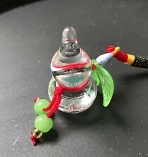 Handcraft Clear Crystal Wu Lou / Gourd Feng Shui Good Health Lucky Energy NC3