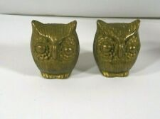 Antiqued Brass Vintage Design Small Owl Head #2 Made in the USA