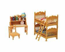 Calico Critters Children Bedroom Set Ladder Mattress Desk Chair Shelf Pencil Mat