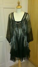 Anna Scott Dress ,chiffon,boho, quirky , fab, funky , lagenlook , party size 10