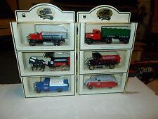Lot of 6 Commemorative Chevron Lledo Model Die Cast Oil Trucks Vehicles