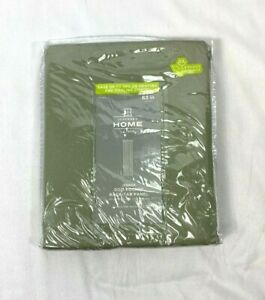 """JCP Home Tennessee Sage Lined Rod-Pocket Back-Tab Curtain Panel, 40""""x63"""""""