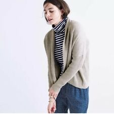 Madewell Horizontide Cardigan Sweater M Women Ribbed Open Front Long Sleeve Gray