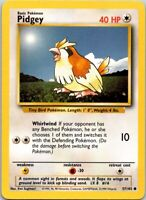 Vintage 1999 Basic Pokemon Pidgey #16 Common Colorless 57/102 40 HP Single Card