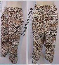 NWT bebe Frankie Point Joggers SIZE  L Sleek and sexy. Cheetah Print Go Wild!