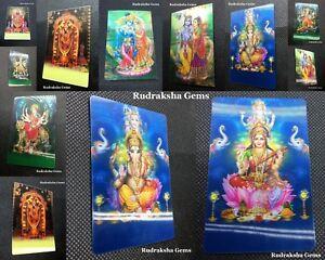 OM AUM HINDU GOD 3D PICTURE CARDS GANESH LAXMI TIRUPATHI DURGA KALI MA SHIVA SAI