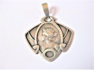 Art Nouveau Pendant Silver 835, 0.2oz