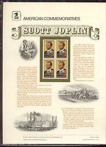 #2044 20c Scott Joplin  USPS Cat. #191 Commemorative Stamp Panel