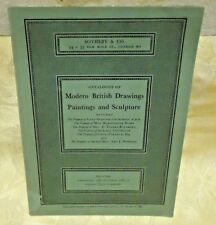 SOTHEBY'S Catalogue of Modern British Drawings Paintings Sculpture Dec. 1965