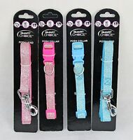 Small Posh Sparkly Puppy / Small Dog Collar and Lead Set Fully Adjustable