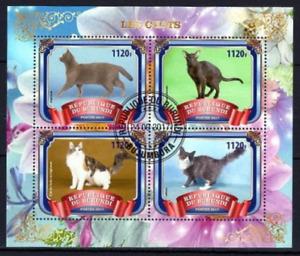 BURUNDI 2017 CATS CHATS GATOS PETS DOMESTIC ANIMALS FAUNA STAMPS MNH CTO
