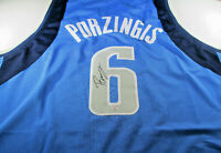 KRISTAPS PORZINGIS / AUTOGRAPHED DALLAS MAVERICKS CUSTOM BASKETBALL JERSEY / COA