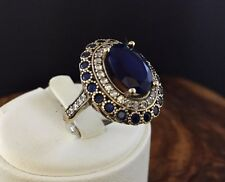 TURKISH HANDMADE RING 925 STERLING SILVER SAPPHIRE STONE SIZE 6 7 8 9 10 US #2