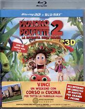 Blu Ray  PIOVONO POLPETTE 2 3D *** (Blu-ray 3D+2D) + Libretto Ricette ***..NUOVO