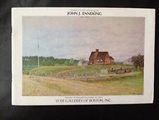 JOHN J. ENNEKING Vose Galleries 1975 Exhibition & Sale Booklet