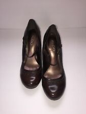 Aldo Brown Mary Jane Shoes With Block Heel Women's Size 37