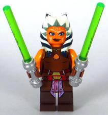 LEGO Star Wars - Padawan Ahsoka Tano Minifigure, 2 Lightsabers 75013 75046 NEW