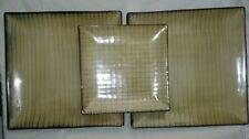 "Bamboo by Threshold Set (2) Dinner Plates 10 3/8"" & (1) Salad Dessert Plate"
