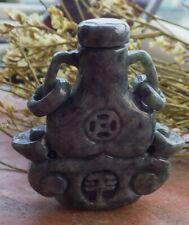 Certified 100% Natural A Jade jadeite pendant Dragon Ping An Snuff Bottle 593300