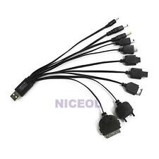Portable 10 in 1 Date Charge Cable Multi USB Charger For Mobile Phone iPhone New