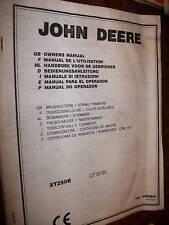 John Deere XT250B Débroussailleuse MANUEL UTILISATION