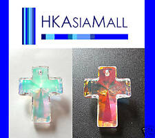 1x Swarovski pendant CROSS 6864 Crystal AB 40x30mm