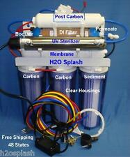 Clear Reverse Osmosis System 100/150gpd 7 Stage RO/DI/UV/Booster/Permeate