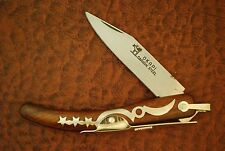 VINTAGE OKAPI MADE IN SOUTH AFRICA/GERMANY MOON & STARS CARBON STEEL BUSH KNIFE