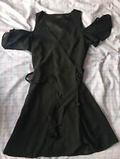 Women's Lipsy London Black Floaty Belted Dress UK Size 10