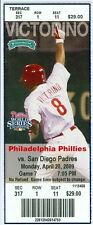 2009 Philadelphia Phillies vs San Diego Padres Ticket:  Shane Victorino