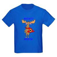 CafePress Mighty Moose Kids Dark T Shirt Kids Cotton T-shirt (136100042)