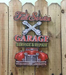 Wooden Full Servce Garage Sign