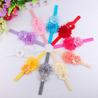 1PCS Baby Girls Chiffon Pear Headband Hairbow Head Wear Flower Hairband  BH