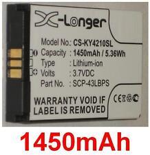 Batería 1450mAh tipo 5AAXBT048GEA SCP-43LBPS Para Kyocera DuraMax