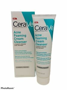 CeraVe Acne Foaming Cream Cleanser Acne Treatment with 4% Benzoyl Peroxide 5oz