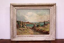 Quadro / Dipinto / Painting olio su tela / oil canvas paesaggio costiero firmato