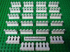 24 Lego White Picket Fence Friends Creator City House Gate Piece MOCs Part 33303