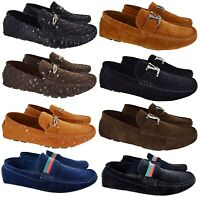 MENS SLIP ON BOYS CASUAL DESIGNER MOCASSIN BOAT LOAFERS DRIVING DESK SHOES SIZE