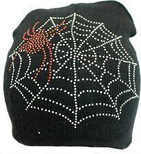 Braided Beret Beannie Knit Jeweled Spider Beanie Hat Ski Cap Winter Warm Cap