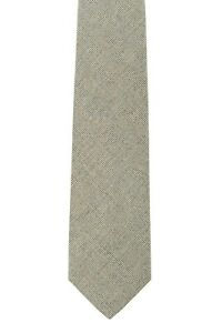 D'AVENZA Tie Silk Hopsack Light Beige Hand-Sewn in Italy / 57.48 inch