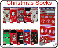 12 Pairs Christmas Gift Socks Ladies Women Wholesale Job Lot Clearance XMAS