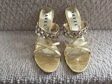 Ravel Tulsa Women/'s UK 6 /& 7 Coral Leather Jewelled Flat Sandals EU 39 /& 40 New